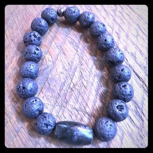 Original volcanic rock Buddhist bracelet